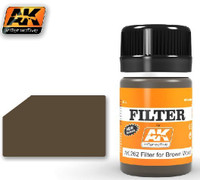 Filter for Brown Wood Enamel 35ml Bottle AK Interactive