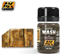 Wash for Wood Enamel 35ml Bottle AK Interactive