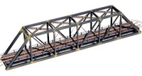 150' Pratt Truss Bridge w/Walkways & Railings Kit N Central Valley Model Works