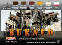 Burned Diorama Acrylic Paint Set Life Color