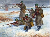 Soviet Infantry Winter Uniform 1941-45 (5) (Snap Kit) 1/72 Zvezda