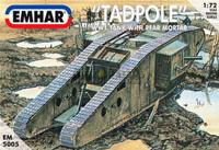 WWI British Tadpole Mk IV Tank w/Rear Mortar 1/72 Emhar