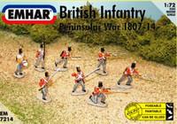 Peninsular War 1807-14 British Infantry (48 Figures & 1 Horse) 1/72 Emhar
