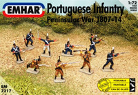 Peninsular War 1807-14 Portuguese Infantry and Cazadores (46 Figures) 1/72 Emhar