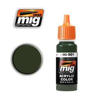 RAL 6003 Olivegrun Opt.1 Acrylic Paint Ammo of Mig Jimenez