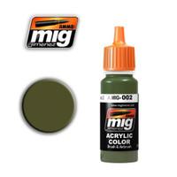 RAL 6003 Olivegrun Opt.2 Acrylic Paint Ammo of Mig Jimenez