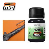 Gun Metal Weathering Pigment Ammo of Mig Jimenez