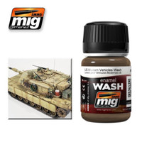 US Modern Vehicles Enamel Wash Ammo of Mig Jimenez