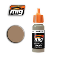RAL 8031 F9 German Sand Brown Acrylic Paint Ammo of Mig Jimenez