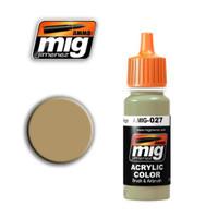 RAL 8031 F9 German Sand Beige Acrylic Paint Ammo of Mig Jimenez