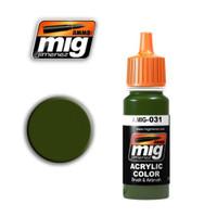 Spanish Green-Khaki Acrylic Paint Ammo of Mig Jimenez