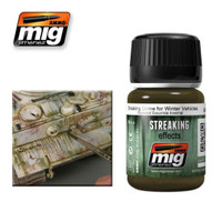 Streaking Grime for Winter Vehicles Enamel Wash Ammo of Mig Jimenez