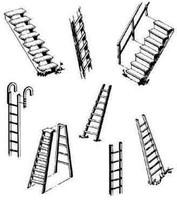 Assorted Steps & Ladders HO Central Valley Model Works