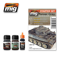 Panzer Grey Weathering Set Ammo of Mig Jimenez