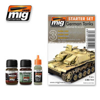 German Tanks Weathering Set Ammo of Mig Jimenez