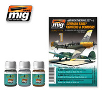 German Early Fighters and Bombers Weathering Set Ammo of Mig Jimenez