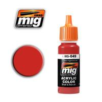 Red Acrylic Paint Ammo of Mig Jimenez