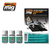 US Navy Grey Jets Weathering Set Ammo of Mig Jimenez