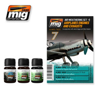 Airplanes Engines and Exhausts Weathering Set Ammo of Mig Jimenez