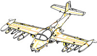 A-37A Dragonfly Light Ground Attack Aircraft 1/48 Trumpeter
