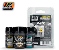 Aircraft Engine Effects Enamel Weathering Set (3 Colors) 35ml Bottles AK Interactive