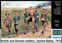 British & German Soldiers, Somme Battle 1916 (6) 1/35 Masterbox