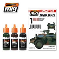 NATO Colors Acrylic Paint Set Ammo of Mig Jimenez