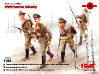 WWI Russian Infantry w/Weapons  Equipment 1/35 ICM Models