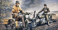 WWII US Soldiers on Motorcycles (2), D-Day 1/35 Italeri