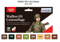 Waffen SS Camouflage Model Color Wargames Paint Set (8 Colors) Vallejo Paint