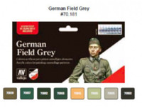 WWII German Field Grey Uniform Model Color Wargames Paint Set (8 Colors) Vallejo Paint
