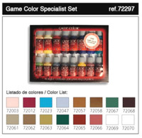 Specialist Game Color Paint Set (16 Colors) Vallejo Paint