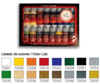 Introduction Game Color Paint Set (16 Colors) Vallejo Paint