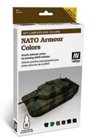 NATO Armor Camouflage AFV Paint Set (6 Colors) Vallejo Paint