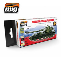 Modern Russian Camo Colors Acrylic Paint Set Ammo of Mig Jimenez