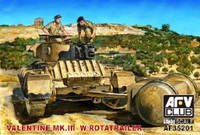 British Mk IIII Valentine Tank w/Rotatrailer 1/35 AFV Club