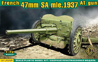 French 47mm SA Mod 1937 Anti-Tank Gun 1/72 Ace Models