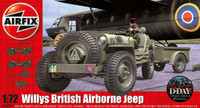 Willys British Airborne Jeep, Trailer and 75mm Pack Howitzer M1 Gun, 70th Anniversary D-Day (New Tool) 1/72 Airfix