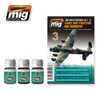 Early RAF Fighters and Bombers Weathering Set Ammo of Mig Jimenez