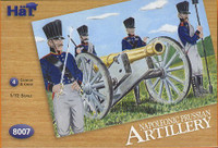Napoleonic Prussian Artillery & Cannons (24-figures with 4-cannons & 4-horses) 1/72 Hat