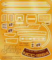 Star Trek: USS Reliant NCC1864 Photo-Etch Set for PLL 1/1000 Paragrafix