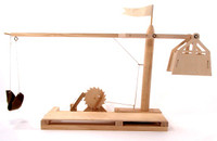 Leonardo DaVinci Trebuchet Wooden Kit Pathfinders