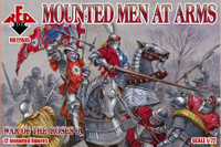 War of the Roses: Mounted Men at Arms (12 Mtd) 1/72 Red Box Figures