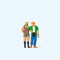 Walking Couple HO Preiser