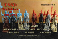Alamo Mexican Helmet Cavalry Lancers (8 Mtd)  1/32 Toy Soldiers Of San Diego