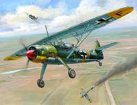WWII Henschel He-126 German Recon Aircraft (Snap Kit) 1/144 Zvezda