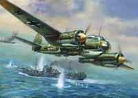 German Ju-88A4 Bomber (Snap Kit) 1/200 Zvezda