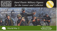 Early War German Infantry 1939-42 (138) 15mm Plastic Soldier