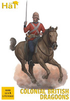 Colonial British Dragoons (12 Mtd) 1/72 Hat