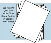 "8.5"" x 11"" White Decal Paper (4/pack)"